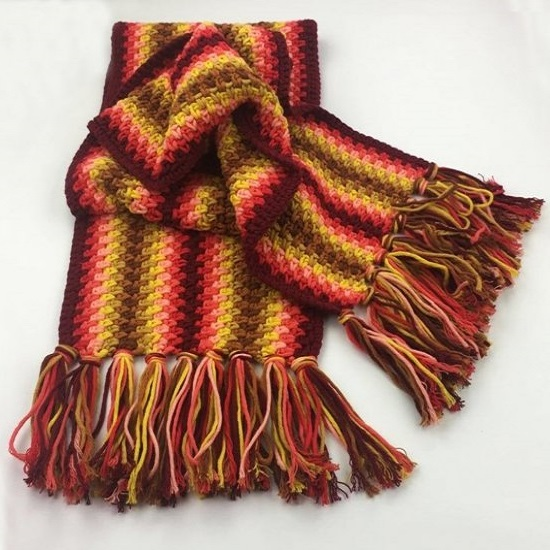 Autumn Red Schal Durable Cosy