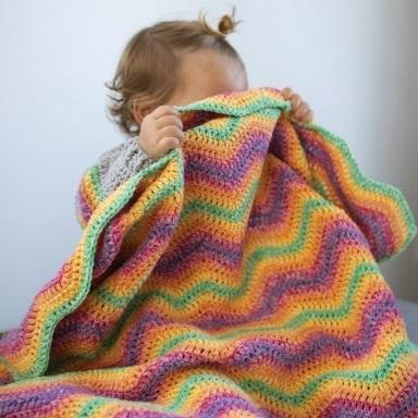Ripple Blanket Cosy Fine Faded