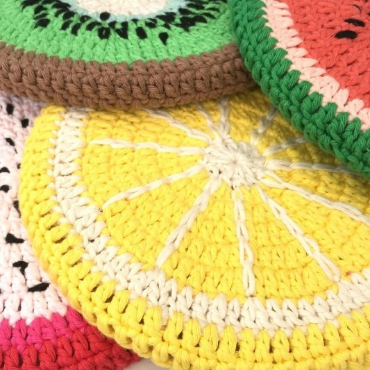 Fruity Potcoasters Durable Double Four