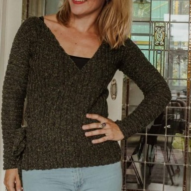 Wrap me up Cardigan Durable Forest