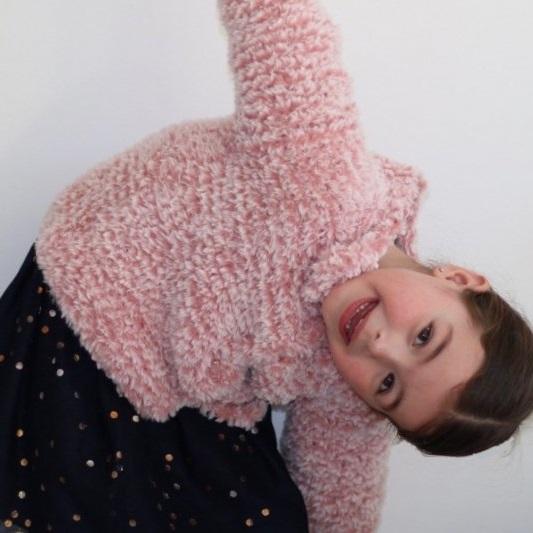 Kids cardigan Stella Durable Furry