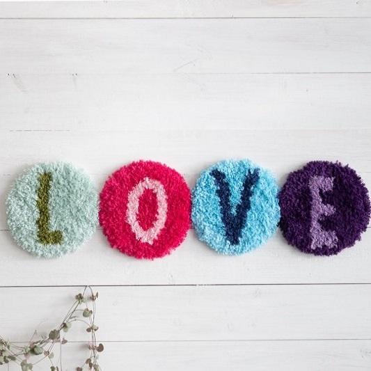 Love Wandhanger Durable Latch Hook Yarn
