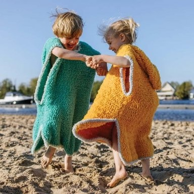 Swimming and beach poncho Durable Teddy