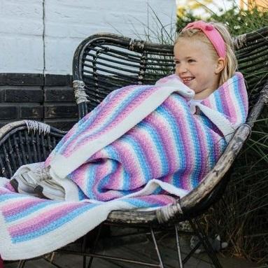 Happy Unicorn Stripes Blanket Durable Velvet