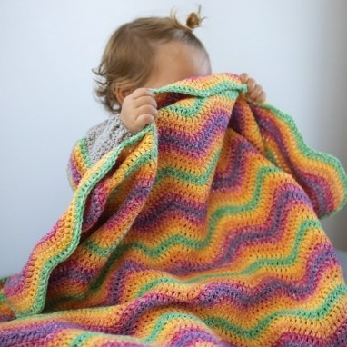 Ripple Blanket Durable Cosy Fine Faded